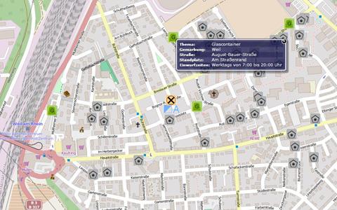 Screenshot Bürger-GeoPortal