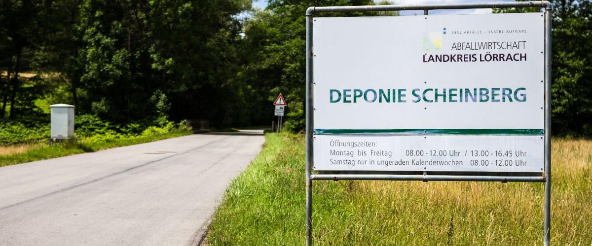 Einfahrt Deponie Scheinberg